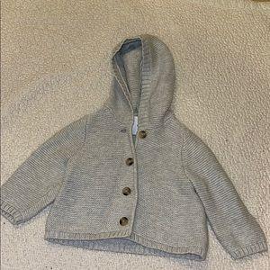 Baby sweater knit jacket.